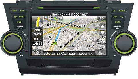 Штатное головное устройство для Toyota Highlander V-THG с картой NAVITEL. Купить и установить в интернет магазине КомБез-Авто в Москве.